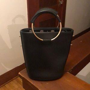 Melie Bianco Shoulder Bag With Metal Hardware